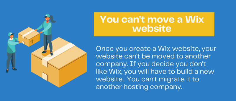 you can't move a Wix website