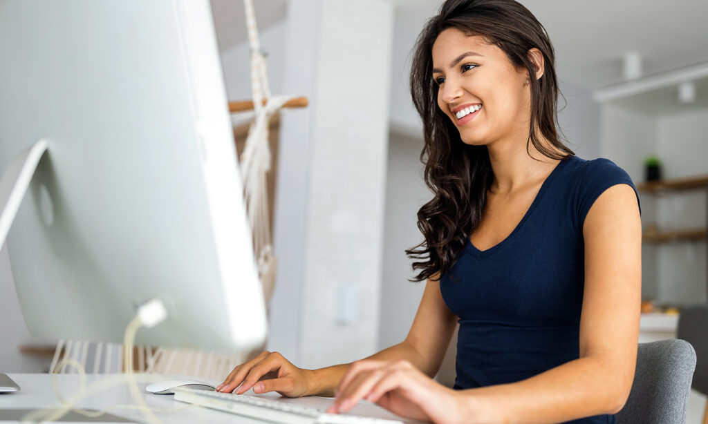woman looking for citations in Google